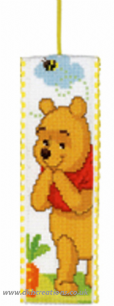 Disney Winnie The Pooh In The Garden Bookmark Cross Stitch Kit